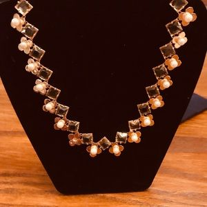 Tory Burch Babylon pearl and rhinestone necklace